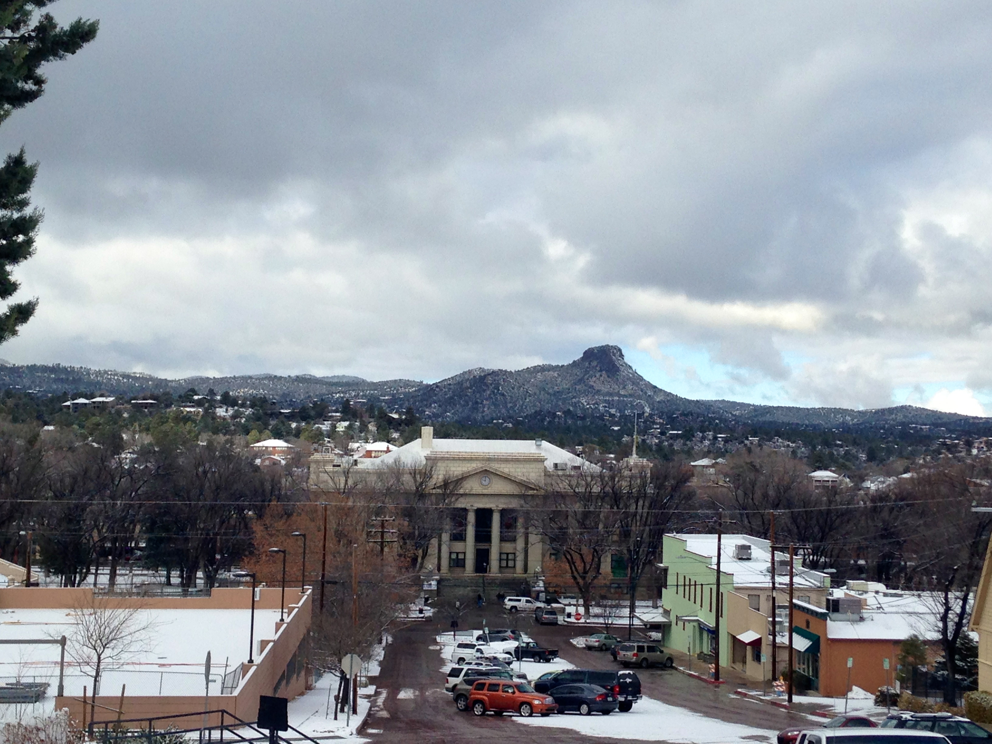 prescott downtown snow